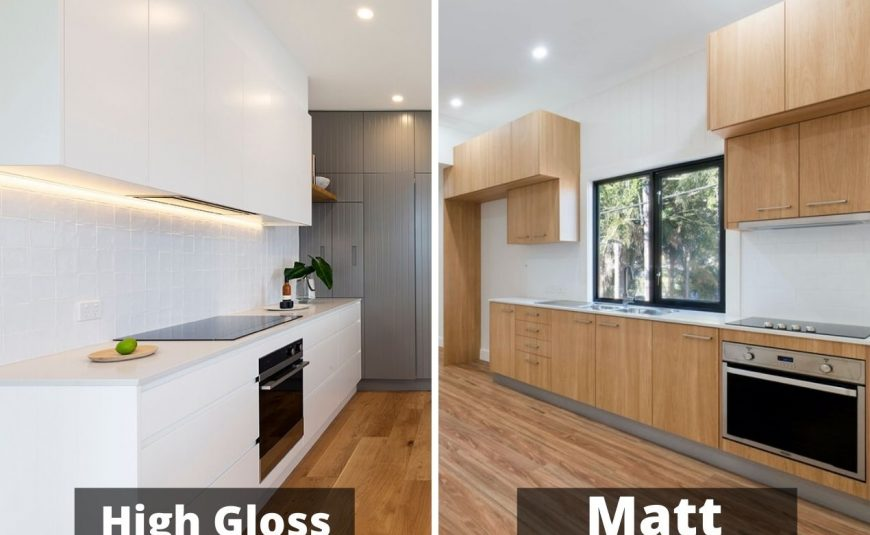 High Gloss vs. Matt Kitchen Cabinet